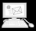 E-Mail auf einem Computer-Bildschrim